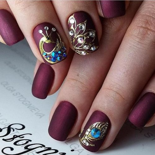 Cute Burgundy Nail Designs picture 4