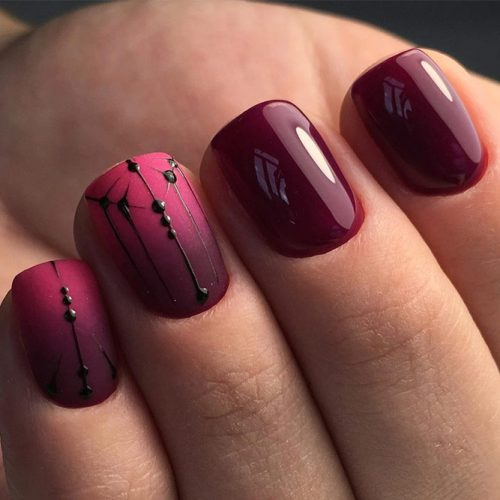 Cute Burgundy Nail Designs picture 5