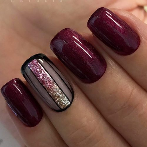 Cute Burgundy Nail Designs picture 6