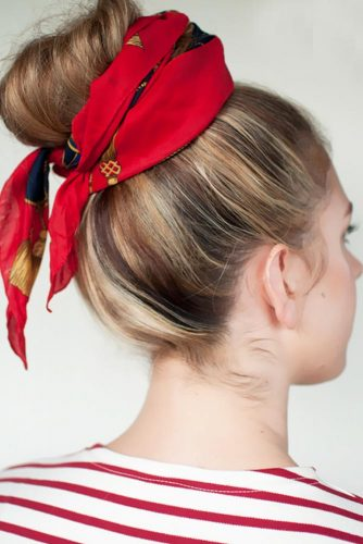 Cute Hairstyles with Scarves picture 2