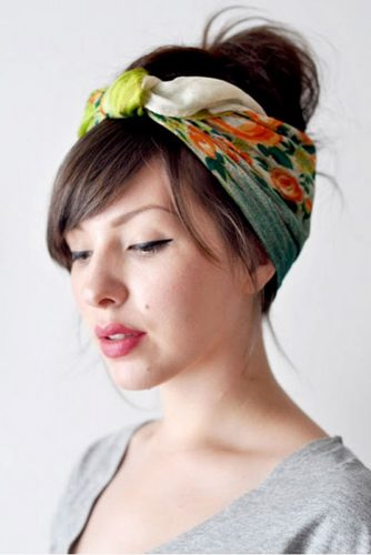 Cute Hairstyles with Scarves picture 3