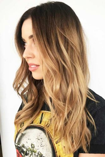 Dark Blonde with Black Roots #blondehair #brunette #ombre