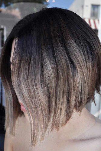 Dark Brown & Beige Color #shortombrehair #hairstyles #shorthair #bobhaircut #beigecolor