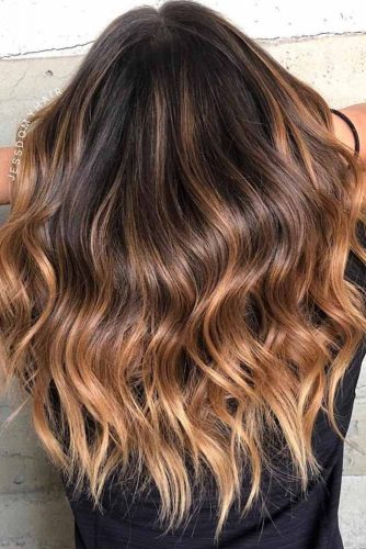 Dark Brown Ombre Hair Style #darkbrown #haircolor