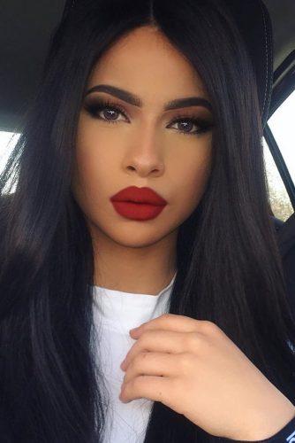 Dark Red Lipstick Makeup Ideas picture 5