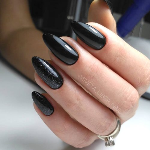 Easy Almond Nails Design For The Perfect Everyday Look #blacknails