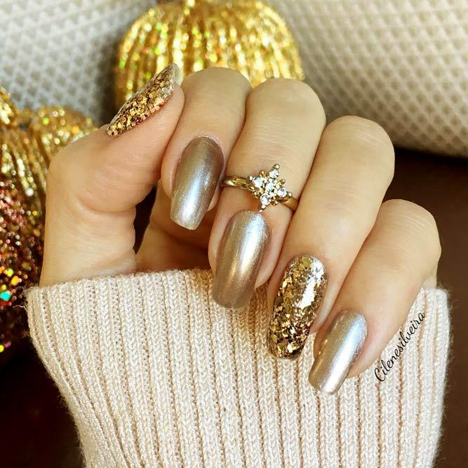 Easy Gold Nail Designs Picture 1