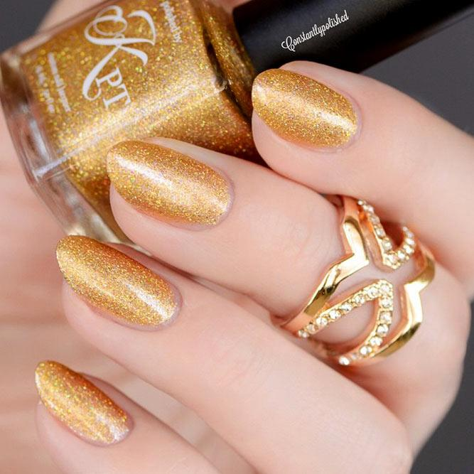 Easy Gold Nail Designs Picture 3