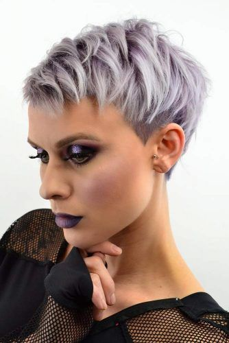 Edgy Textured Pixie #undercutpixie #pixiehaircut #undercut #haircuts
