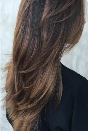Edgy V-Line Layers for Long Layered Hair
