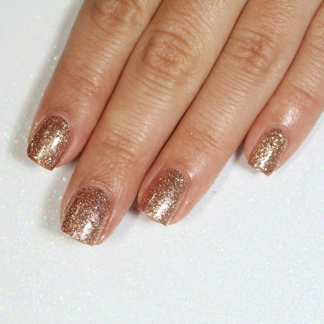 Every Day Is A Holiday With Gold Glitter Nails Picture 3