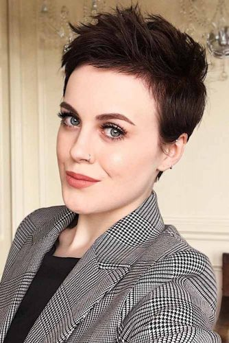 Extremely Short Layered Pixie #shorthair #pixie #layeredhair