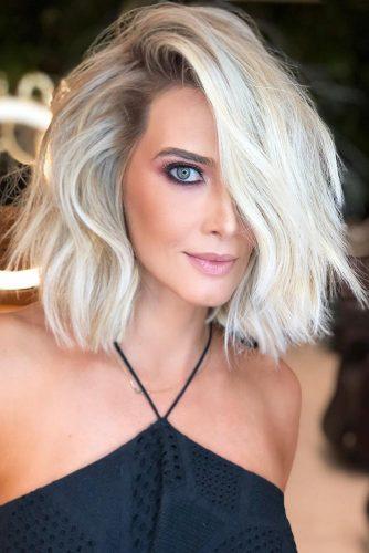 Eye-Catching Cool Toned Blonde #messyhair #bob #platinumblonde