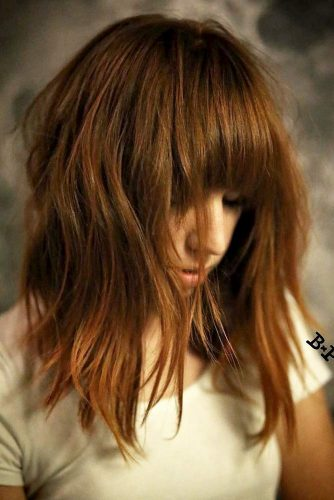 Fabulous Textured Long Bob with Bang picture 4