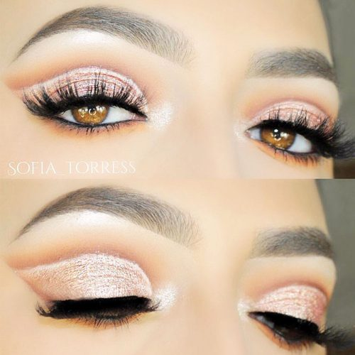 Festive Eye Makeup Ideas for Amber Eyes picture 1