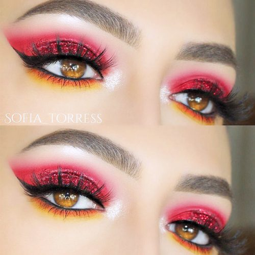 Festive Eye Makeup Ideas for Amber Eyes picture 3