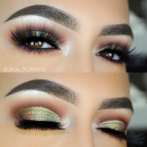 Glitter Eyeshadow For Amber Eyes #glittereyeshadow #partymakeup