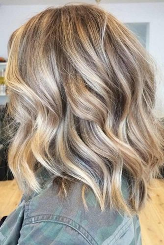 Gold Blonde With Lowlights