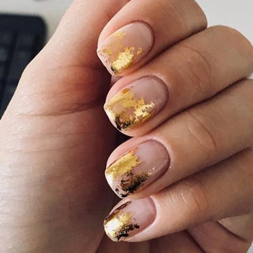 Gold Metallic Nail Art #manicure