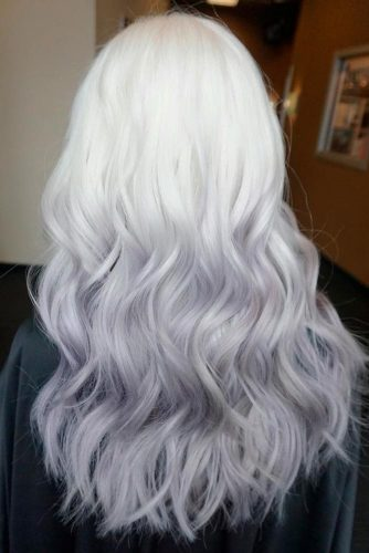 Gray and White Ombre
