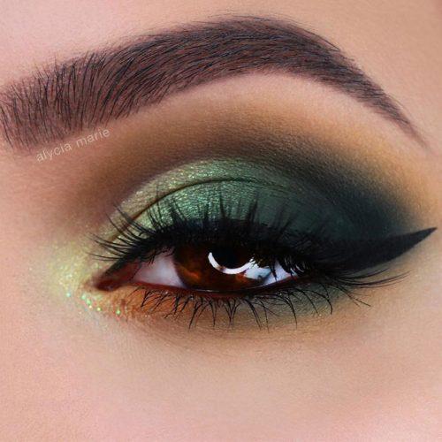Green Smokey Eyes Makeup Idea #greensmokey