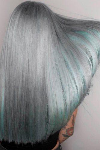 Grey with Aqua