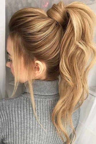 High Voluminous Ponytail #hairstylesforthinhair #hairstyles #thinhair #hairtype #ponytail