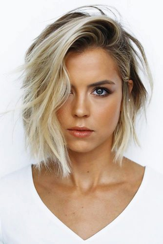 Hot And Trendy Short Hairstyles Side Styling #shorthair #bob #blondehair