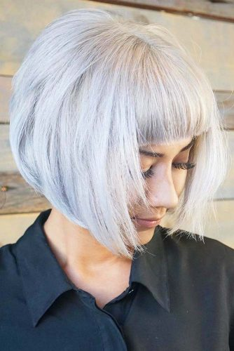 Ideas For Every Length #bangs #bob