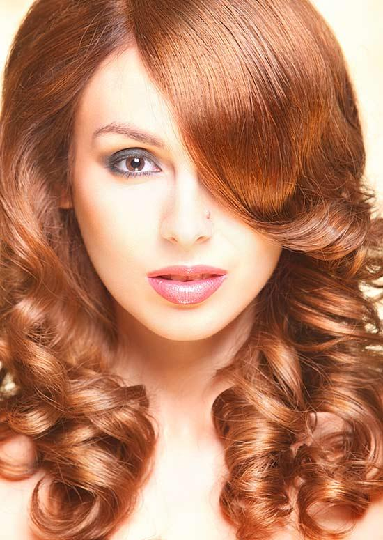 Latest Hairstyles For Long Hair - Curls with Straight Bangs