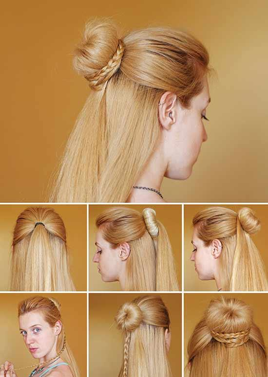 Latest Hairstyles For Long Hair - Half-do