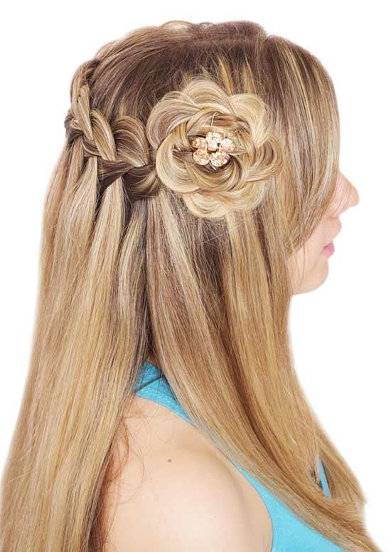 Latest Hairstyles For Long Hair - Waterfall Braid