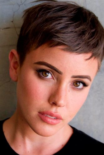 Layered Haircuts For Very Short Hair #pixie #pixiecut #sidebang #naturalhair