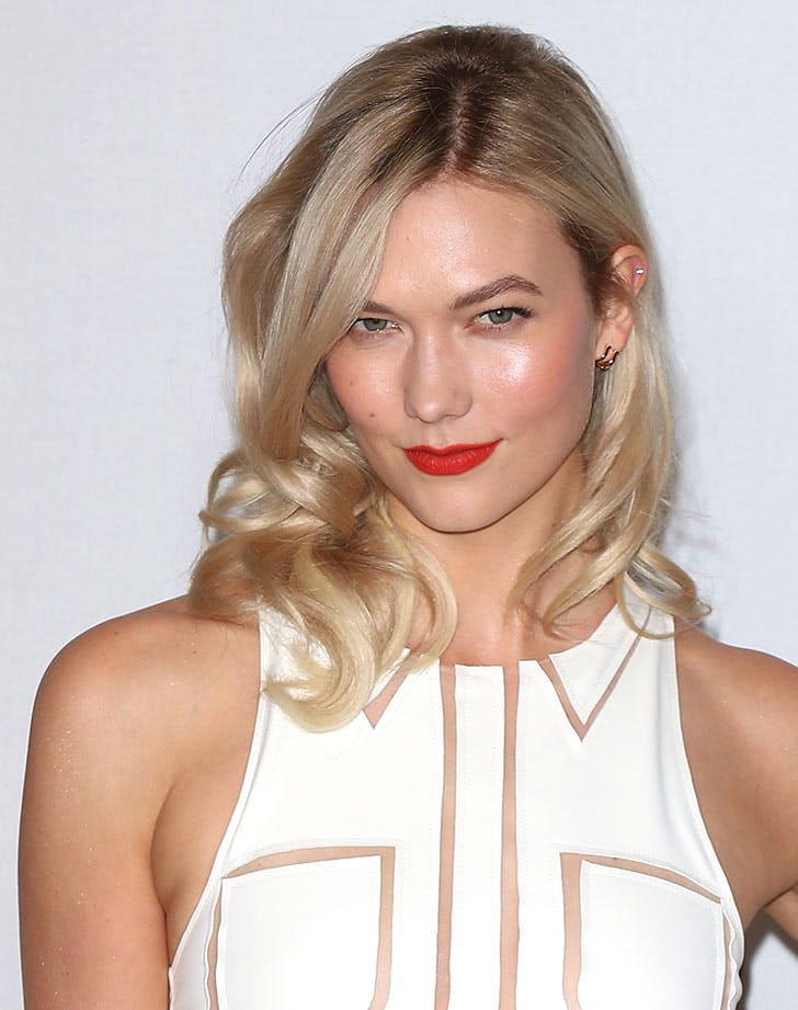 layered midi hair karlie kloss