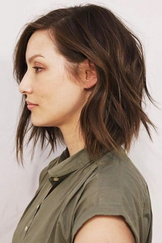 Layered Shaggy Bob With Feathered Ends #layeredhair #bob #shaggy