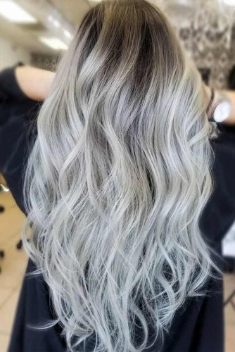 Layered Silver Temptation #silverhair