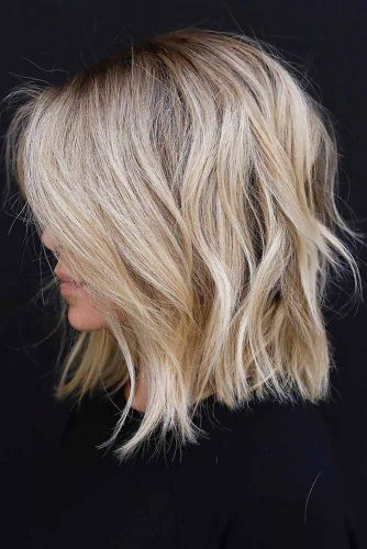 Layered Wheat Blonde Hairstyle #shaghairstyles #shaghaircuts #mediumlength #hairstyles #blondehair