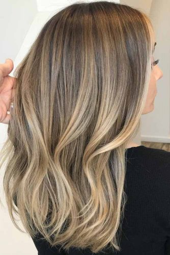 Light Brown Ombre Hair #lightbrowncolor #mediumhair