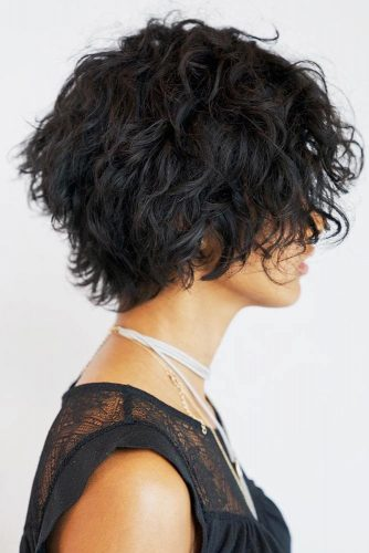 Lightweight Shag Cut For Thick Curly Bob #bob #curlyhair #shaggy