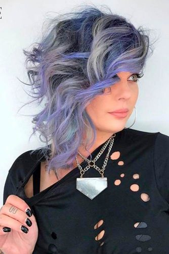 Lilac and Silver Streaks