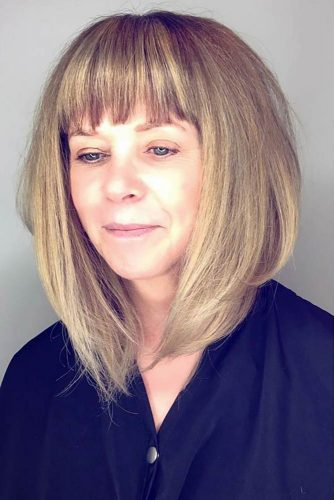 Long A-Line Haircut with Bangs picture1