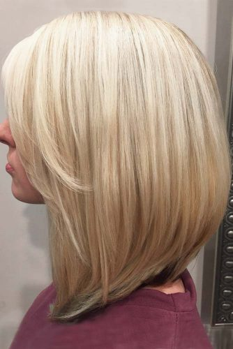 Long A-Line Haircut with Side Bangs picture3