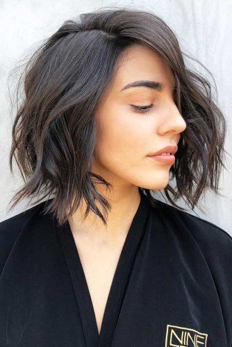 Long Bob Black #longbob #wavyhair