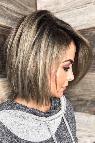 Long Bob Haircut With Textured, Choppy Ends #mediumhair #bob