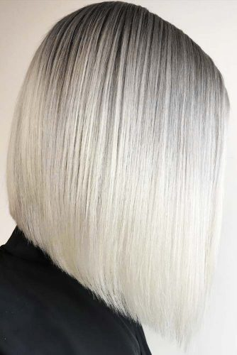 Long Bob Platinum Blonde #longbob #sleekhair