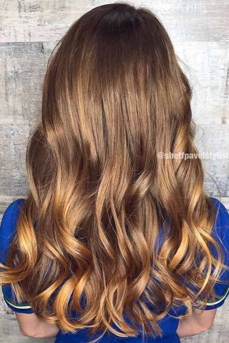 Long Brown Highlighted Hair #longhair #sleekhair #brownhair