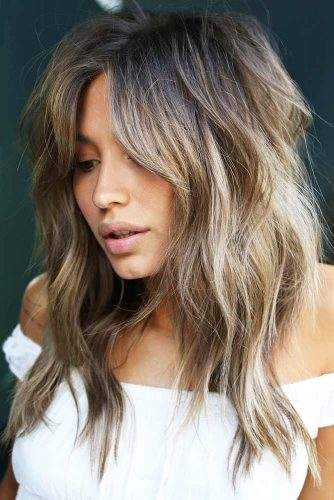 Long Choppy Shag With Feathers #longhair #layeredhair #shaggy