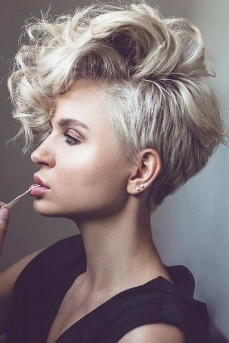 Long Curly  Pixie Bob #shorthaircuts#shorthairstyles #pixie
