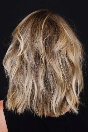Long Layered Bob Hairstyle For Thick Hair #thickhair #bobhairstyle