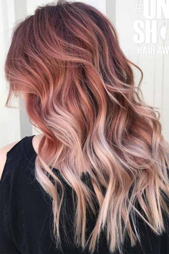 Long Layered Chestnut Ombre Hair